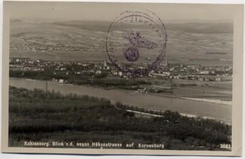 AK Foto Kahlenberg Korneuburg Blick v. d. Höhenstrasse Niederösterreich Österreich Feldpost 1941