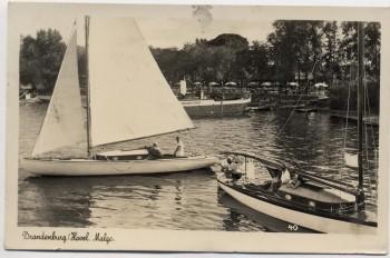 AK Foto Brandenburg an der Havel Malge viele Boote 1943