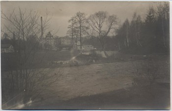 AK Foto Kunnersdorf (Augustusburg) Zschopau Fabrik Hochwasser 1930 RAR