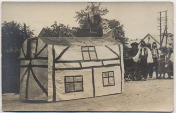 AK Foto Oberwiesa Schulfest Kinder Haus Niederwiesa 1910 RAR