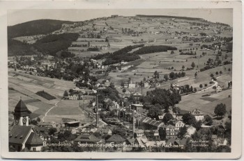 AK Foto Brunndöbra Sachsenberg-Georgenthal mit Aschberg 1936