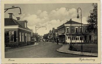 AK Haren (Groningen) Ryksstraatweg mit Hotel Niederlande 1950