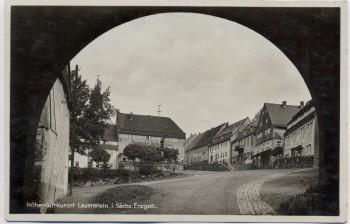 AK Foto Lauenstein bei Altenberg im Erzgebirge Fremdenhof Goldener Löwe 1940
