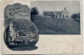 AK Gruss aus Roßwein Wettinhöhe 1900