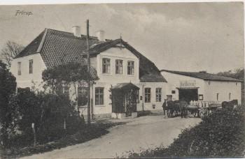 AK Frörup bei Oeversee Molkerei Carl Petersen mit Milchwagen Feldpost 1915 RAR