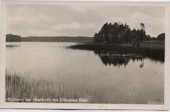AK Foto Plothener See Hausteich des Rittergutes Knau bei Bucha Thüringen 1943