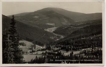 AK Foto Klessengrund Kletno mit Schneeberg bei Seitenberg Stronie Śląskie Schlesien Polen 1930