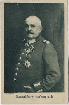 AK Generaloberst von Woyrsch 1. WK Wohlfahrts-Postkarte Feldpost 1916