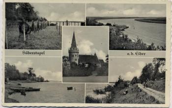 AK Mehrbild Süderstapel an der Eider bei Stapel Schleswig-Holstein 1959