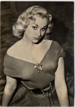 AK Foto Frau mit Dekolleté Peter Steffen Auslandsdienst 1956
