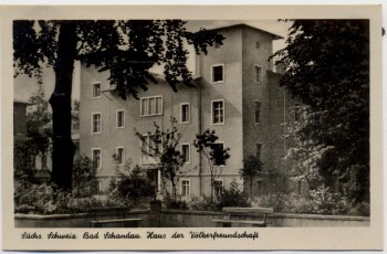 AK Foto Bad Schandau Haus der Völkerfreundschaft 1956