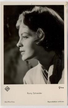AK Foto Romy Schneider UFA Film 1960