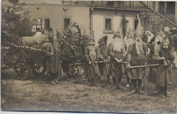 AK Foto Oberwiesa Schulfest Kinder als Zwerge Niederwiesa 1910 RAR
