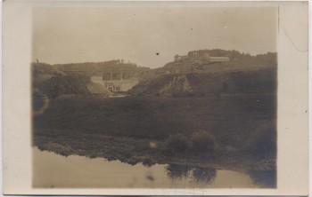 AK Foto Saalburg in Thüringen Bleilochtalsperre im Bau 1931 RAR