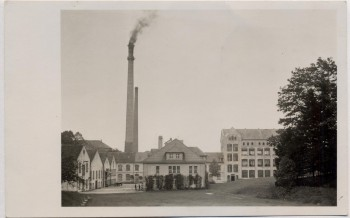 AK Foto Eibau Ortsansicht mit Fabrik bei Kottmar 1910 RAR