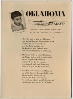 AK Liedkarte Sängerin Leila Negra Oklahoma 1957
