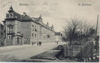 AK Mosbach am Neckar Gr. Bezirksamt 1910 RAR