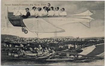AK Nordhausen Harzer Damen-Orchester Ernst in Rumpler-Taube 1913 RAR