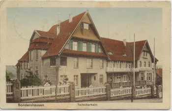 AK Sondershausen Technikerheim 1913