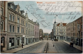 AK Wanne Eickel Hauptstraße Herne 1904