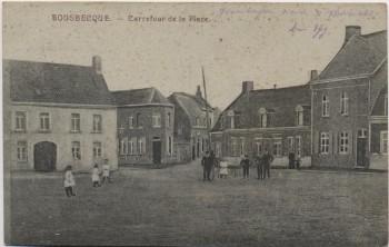 AK Bousbecque Carrefour de la Place Nord bei Lille Frankreich 1916