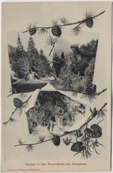 AK Obstalden Partien in den Fuchsfällen Glarus Schweiz 1910