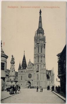 AK Budapest Koronazo templom Krönungskirche 1910
