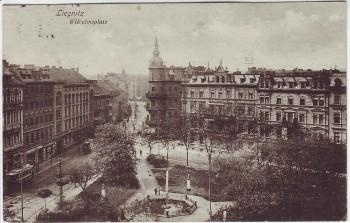 VERKAUFT !!!   AK Liegnitz Legnica Wilhelmsplatz Schlesien Polen Feldpost 1917