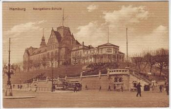 AK Hamburg Navigationsschule 1920