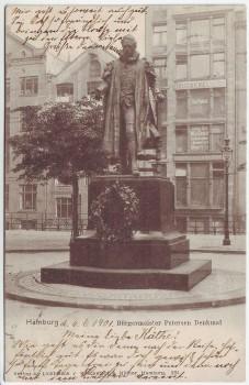 AK Hamburg Bürgermeister Petersen Denkmal 1901