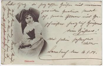 AK Elsässerin in Tracht Frankreich 1904
