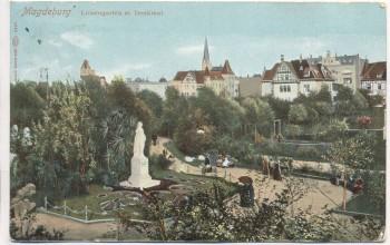 AK Magdeburg Luisengarten mit Denkmal 1912