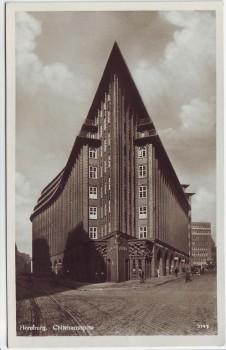 AK Foto Hamburg Chilehaus Haus Spitze 1930