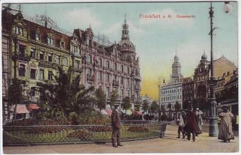 AK Frankfurt am Main Rossmarkt mit Menschen 1910