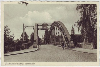AK Fürstenwalde (Spree) Spreebrücke Feldpost Stempel Fliegerhorst 1942