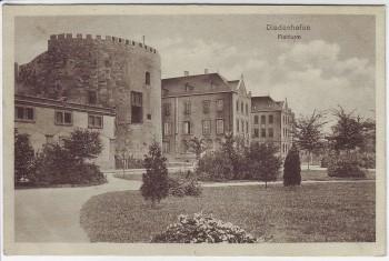AK Diedenhofen Thionville Flohturm Feldpost Stempel Festungslazarett Lothringen Frankreich 1915