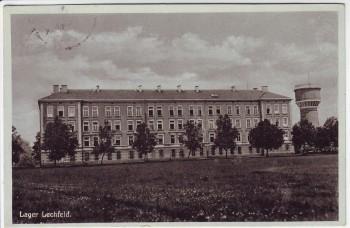 AK Lager Lechfeld Kaserne mit Wasserturm bei Graben (Lechfeld) 1934