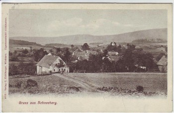 AK Gruss aus Schneeberg Ortsansicht bei Winklarn Bahnpoststempel 1910 RAR