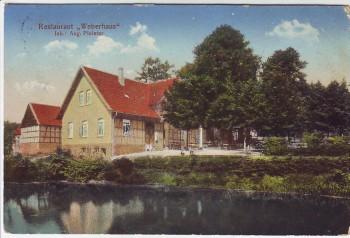 AK Melle Restaurant Weberhaus 1913