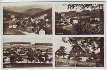 AK Mehrbild Nassau im Erzgebirge Bahnhof Niederdorf Oberdorf Altes Forsthaus bei Frauenstein 1933