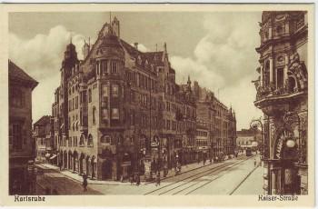 AK Karlsruhe Kaiser-Straße 1920