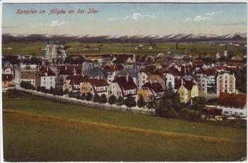 AK Kempten im Allgäu an der Iller Ortsansicht 1919