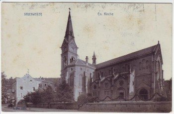 AK Badenweiler Evangelische Kirche 1910