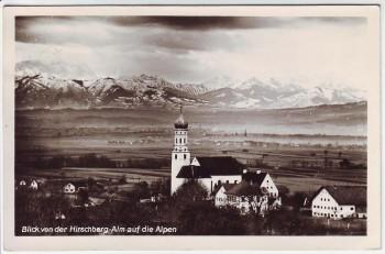 AK Foto Pähl Blick von der Hirschberg-Alm auf die Alpen Weilheim-Schongau 1953