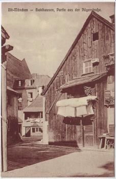 AK Alt München Au-Haidhausen Partie aus der Jägerstraße 1910 RAR