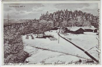 VERKAUFT !!!  AK Taubenberg im Winter 895 m bei Warngau Oberbayern 1925