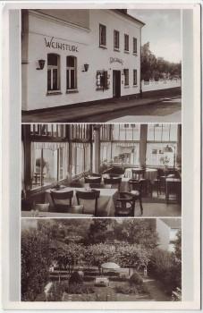 AK Mehrbild Oberdollendorf Gasthof Richarz Weinstube bei Königswinter 1953