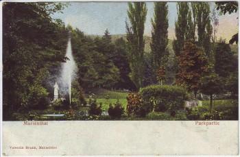 AK Marienthal (Geisenheim) Parkpartie 1908