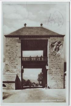 AK Foto Schweigen-Rechtenbach Weintor an der Weinstrasse 1937