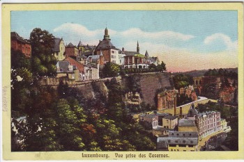 AK Luxembourg Vue prise des Casernes Luxemburg 1920